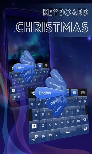 クリスマスのキーボードサンタ