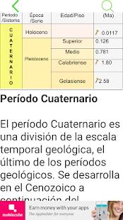 Tabla cronoestratigráfica - náhled