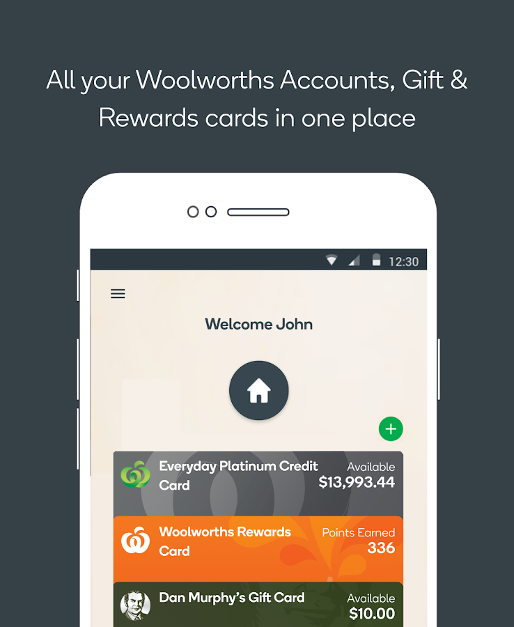 Woolworths Money App- screenshot