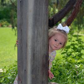 peekaboo by Angie Arnold - Babies & Children Toddlers ( toddler, outdoors, playing, girl, peekaboo,  )