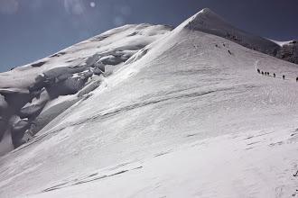 Photo: Droga z Vallota na szczyt.