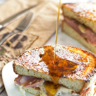 French Toast Croque Monsieur Sandwich with Bèchamel Sauce