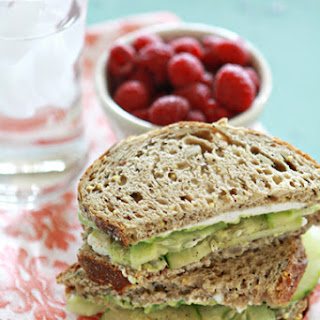 Cucumber and Avocado Sandwich.