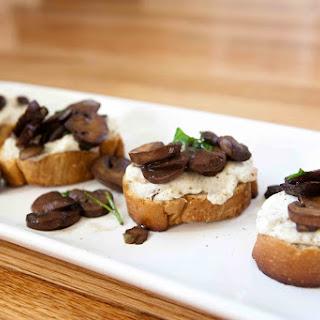 Ricotta Mushroom Bruschetta Toasts