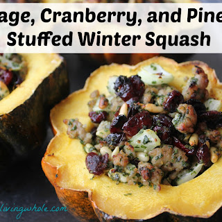 Sausage, Cranberry, And Pine Nut Stuffed Winter Squash