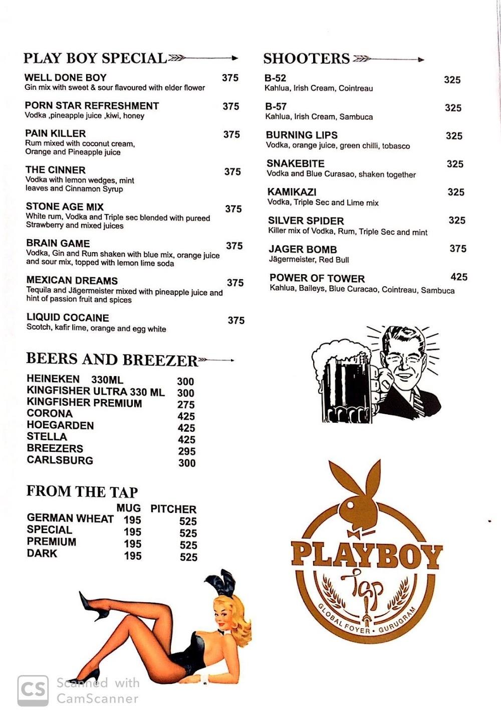 Playboy Tap menu 1