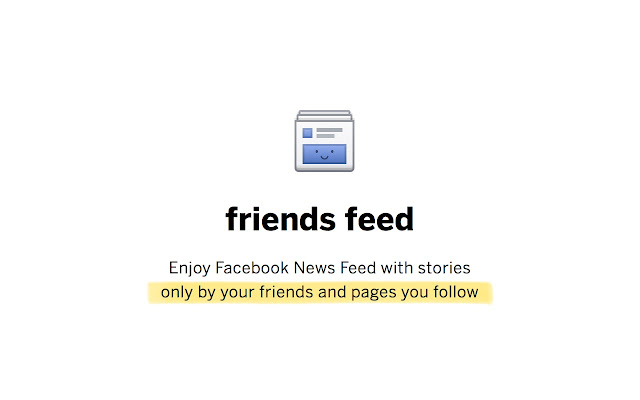 friends feed for Facebook