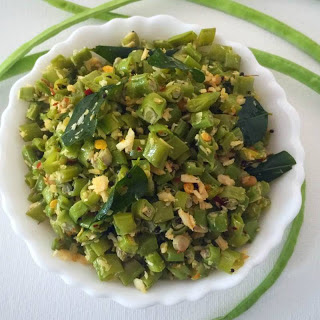 Karamani Poriyal (South Indian Style Yard Long Beans Stir Fry)