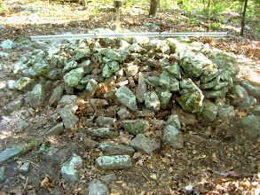 Photo: Cairn #5 with a slightly disturbed flank nearest the camera