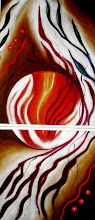 Photo: 321,2, Нетронина Наталья, Фрагмент тетраптих Круговор чувств (2-3), Масло, бархат (живопись по бархату), 35х68см,