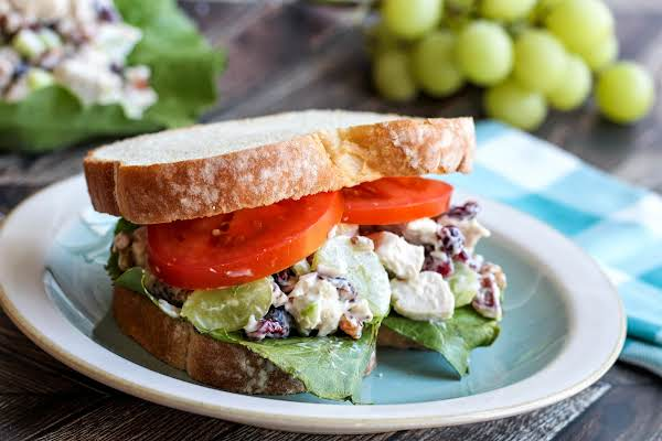 Uncle Wiley's Chicken Salad On A Sandwich.