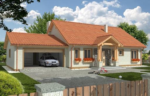 projekt Anita wersja B z podwójnym garażem