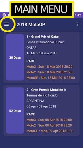 2018 motogp calendar result screenshot 1