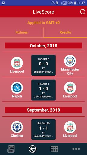 Liverpool LiveScore 1.0 screenshots 2