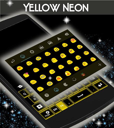 無料个人化Appの黄色のネオンキーボードGO|記事Game