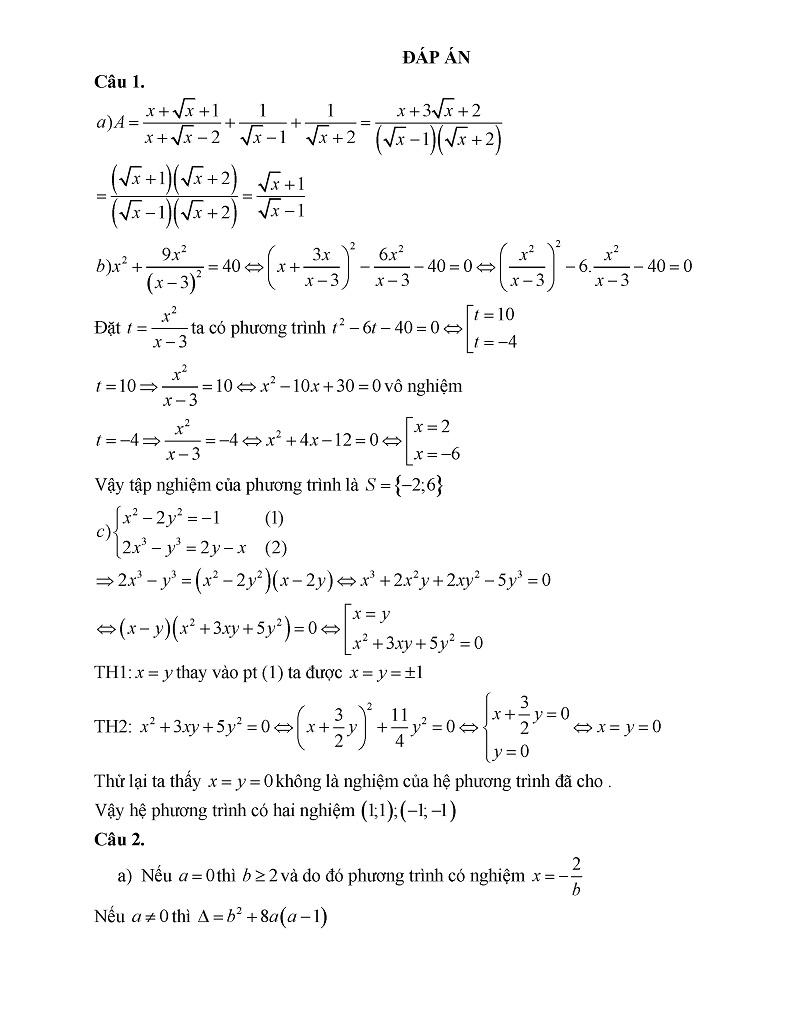 Đề thi chuyên toán Bà Rịa Vũng Tàu 2
