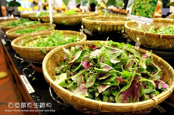 百草饌原生鍋物 蔬菜蔬菜滿滿的蔬菜啊啊啊~