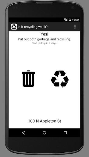 Is it recycling week
