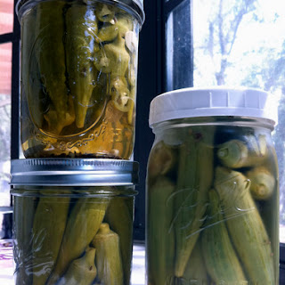 Fridge Pickled Okra