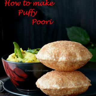 How to make puffy poori | Indian Puri.