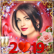 New year photo frame 2019