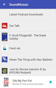SoundMosaic Audio Books Podcast Music - náhled