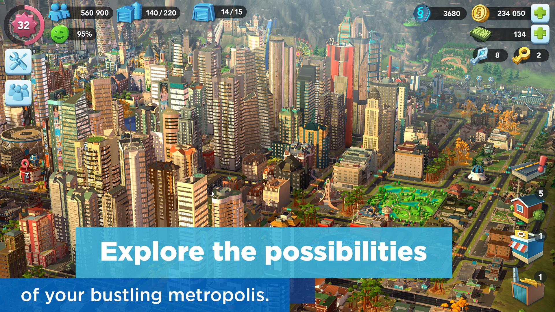 Simcity Buildit Mod Apk (Unlimited Money/Coins/Keys) Latest Version 5