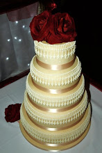 Photo: Hand Piped Wedding Cake (9/4/2012) View cake details here: http://cakesdecor.com/cakes/27557