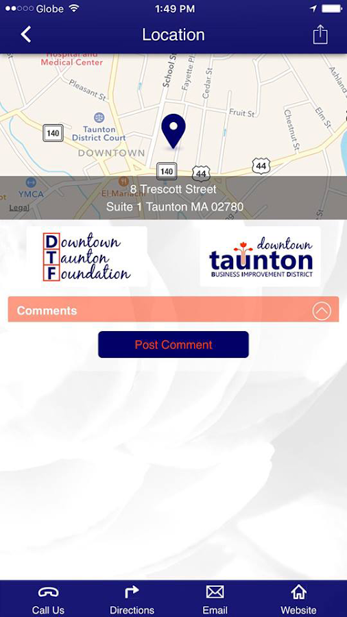 Downtown Taunton Foundation- screenshot