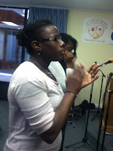 Photo: Morning worshippers - (foreground) Chanel Jones, and (background) Cianna Jackson.