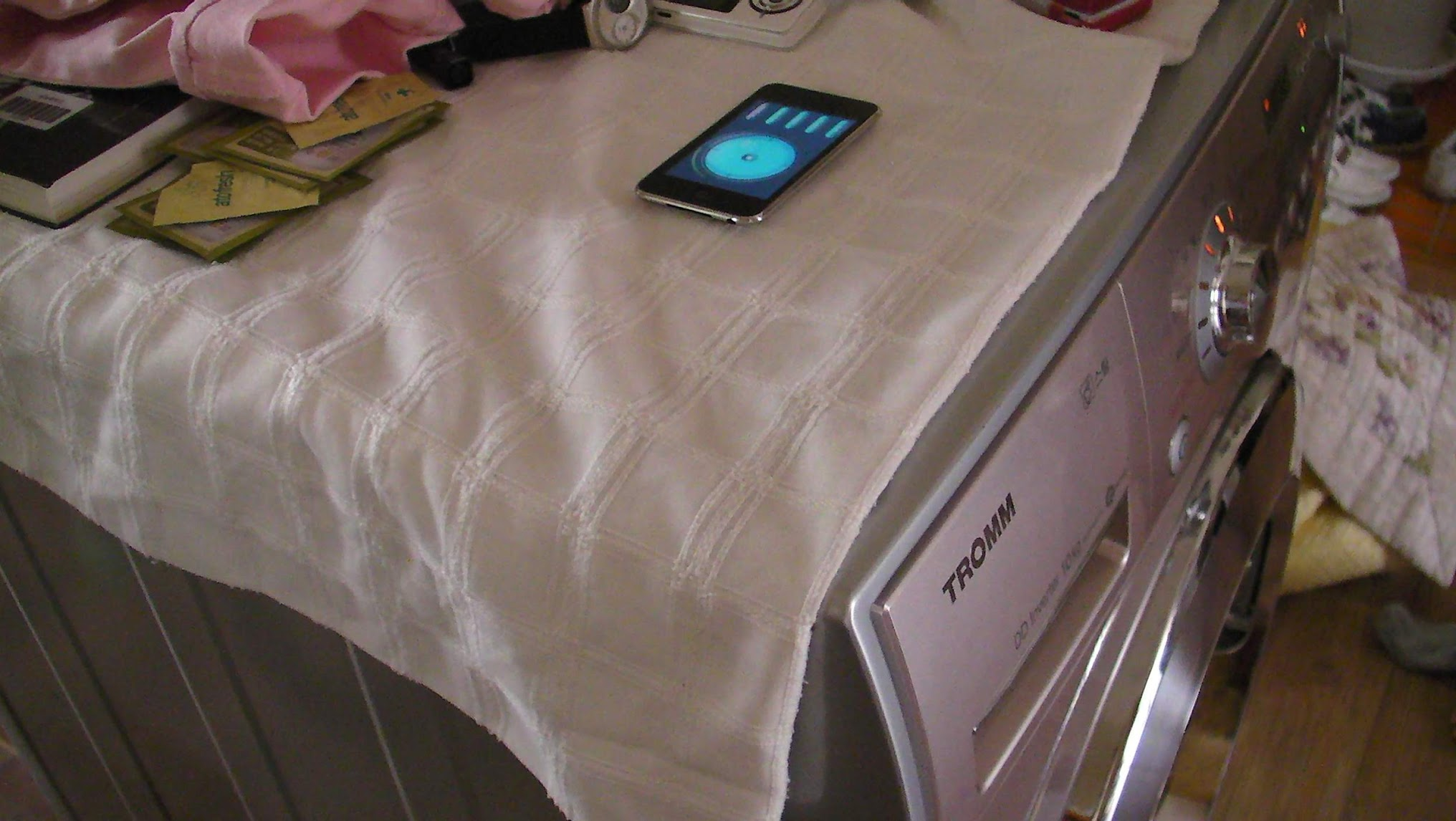아이폰어플로 세탁기 수평맞추기