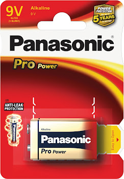 Panasonic Pro Power Alkaline Battery - 9V