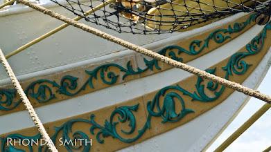 Photo: Fancy designs on the Sorlandet ship. :)