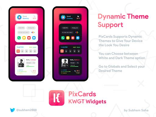 PixCards KWGT - Modern Card Style Widgets screenshot 4
