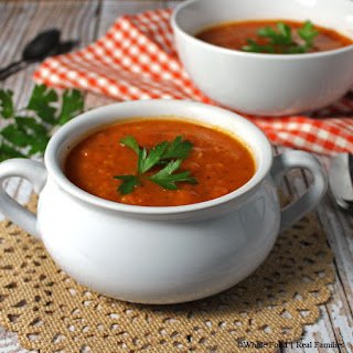 Classic Tomato Soup from Fresh Tomatoes.