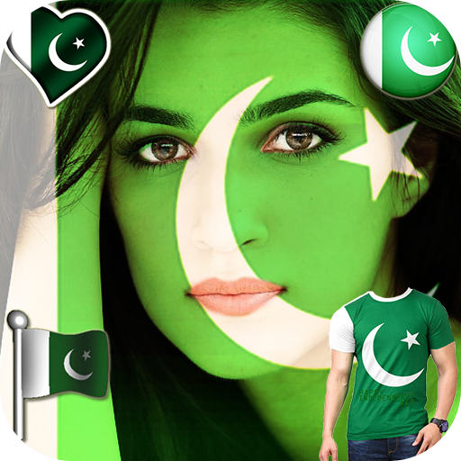 Pak Flag Face-Independence Day Flag Paint Editor