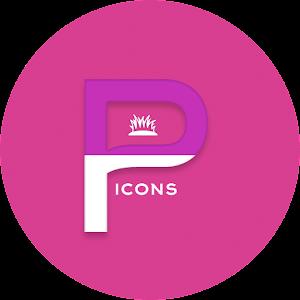 OJ Pink – Round Icon Pack v1.0 APK