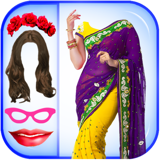 Women Fashion Saree Photo Montage - Photo Editor