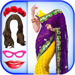 Women Fashion Saree Photo Montage - Photo Editor Icon