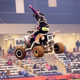 Winner by Scott Thomas - Sports & Fitness Motorsports ( motorcycle, high, winner, sports, jump )