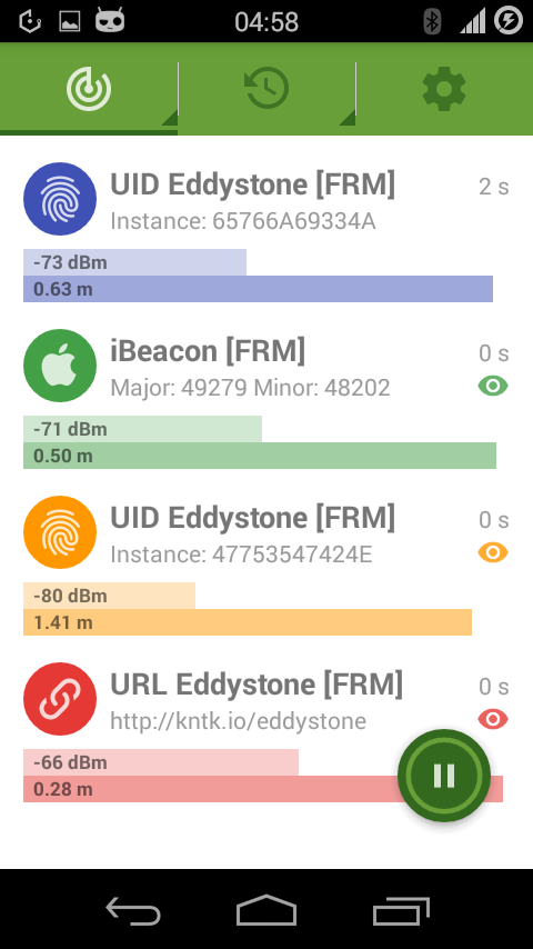 Beacon Radar- screenshot