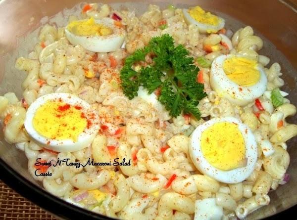 Sweet N Tangy Macaroni Salad Recipe
