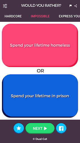 Would You Rather - Social Game Android App Screenshot