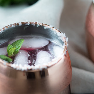 Brunch Pomegranate Moscow Mules.