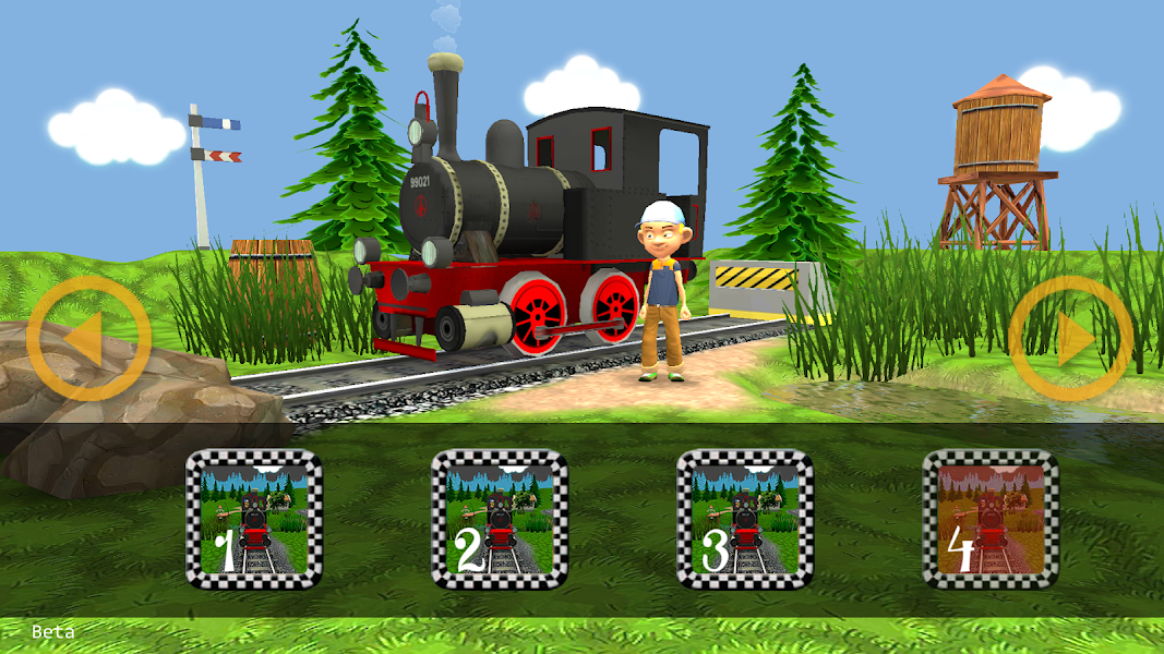 My First Toy Train, train simulator for kids