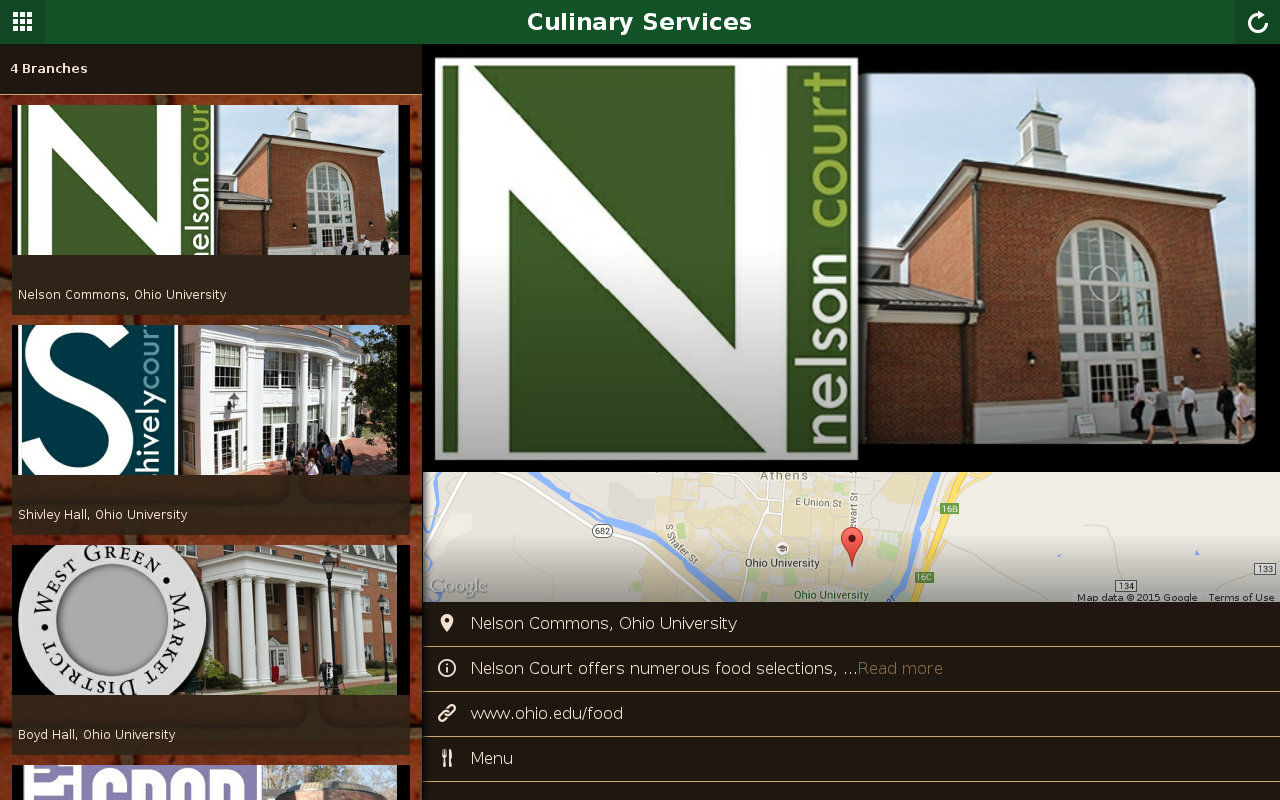 OHIO Culinary Services- screenshot