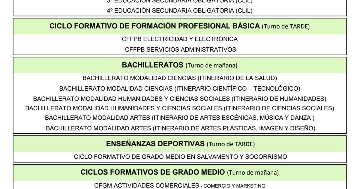 Oferta La Laboral 18 19 Pdf Google Drive