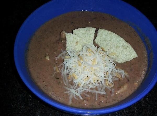 Creamy Black Bean And Salsa With Chicken Soup Recipe