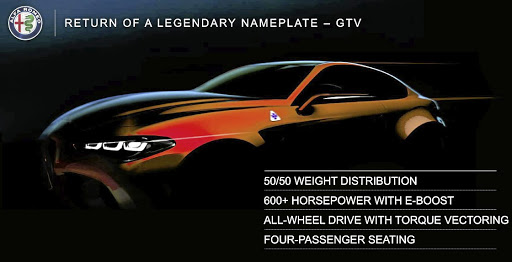 Alfa Romeo will bring back the GTV nameplate.