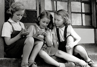 Photo: Susan Adams (Left) with friends - Circa 1952 Names of other two girls?